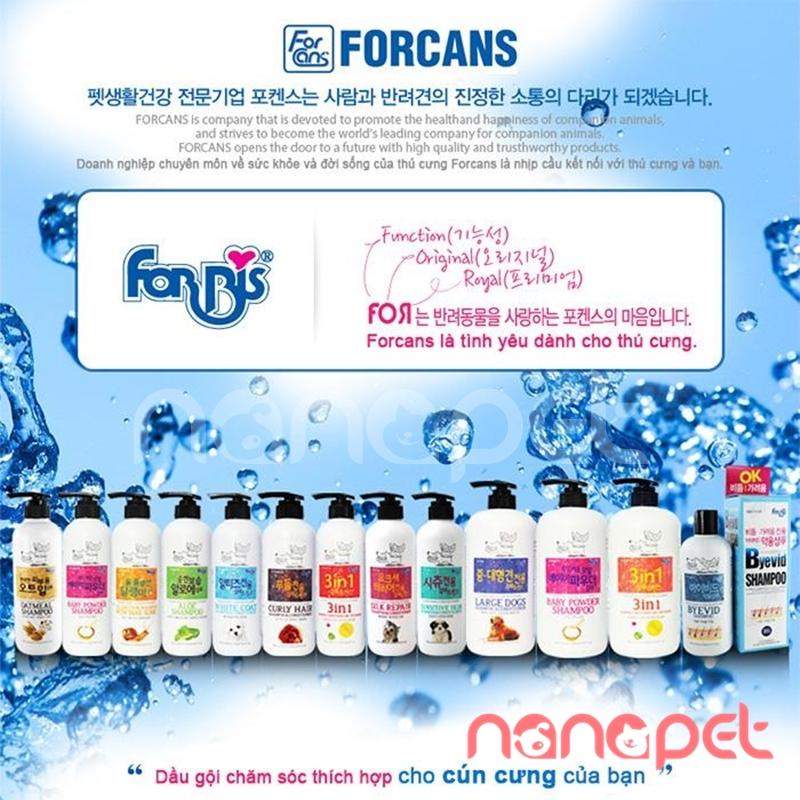 Forcans forbis dầu tắm siêu dưỡng lông 3in1