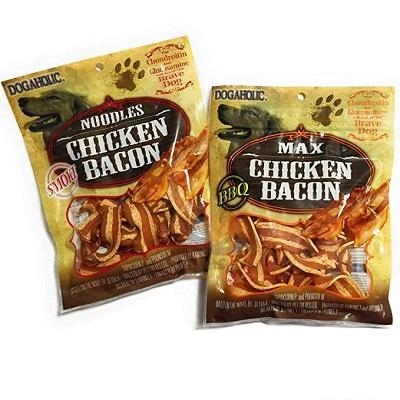 Bánh thuởng thịt gà hun khói mềm Dogaholic noodle chicken bacon smoke: